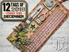 Tim Holtz December Tag 2016        It's FINALLY arrived!  The last of the 2016    Tim Holtz Tags!   I really can't believe that the end of...
