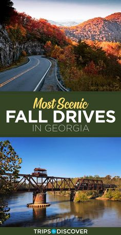 9 Scenic Drives in Georgia For The Ultimate Fall Road Trip Fall Vacations, Affordable Vacations, Blue Ridge Georgia, Georgia Usa, Savannah Georgia, Cool Places To Visit, Places To Travel, Going On A Trip, Explore Travel