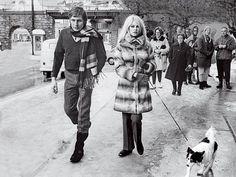 Brigitt Bardot and Gunter Sachs in Gstaad in 1967.