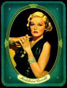German Cigarette Card - Actress, Madeleine Carroll | Flickr - Photo Sharing!