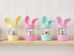 Correction: Crochet Easter bunny jars pattern, Mollie Makes 77