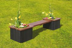 Maintenance-free benches and seats made from recycled plastic in Britain supplied in a variety of colours and versatile styles. Flower Holder, Street Furniture, Outdoor Furniture, Outdoor Decor, Recycling, Planters, Environment, Bench, Colours