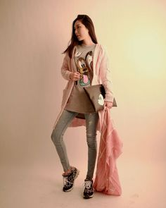 Korea feminine clothing Store [SOIR] - Only you are - [cd] Jelly Long Cardigan / Size : FREE / Price : 54.41USD #korea #fashion #style #fashionshop #soir #feminine  #special #Ivory #mint #pink #Knit #cardigan #basic
