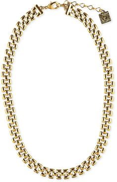 Anne Klein Gold-Tone Thin Collar Necklace on shopstyle.com