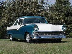 1956 Ford Fairlane Custom Coupe  I HAD A 57 ! YELLOW & WHITE