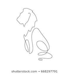 line design silhouette of lion. - - One line design silhouette of lion.hand drawn mini… – -One line design silhouette of lion. - - One line design silhouette of lion. One Line Tattoo, Line Art Tattoos, Body Art Tattoos, Small Tattoos, Small Leo Tattoo, Lion Drawing, Drawing Tips, Lion Silhouette, Silhouette Vector