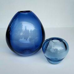World famous modernist Danish Art glass vase set, designed by Per Lutken by ArtVintageandDesign on Etsy https://www.etsy.com/au/listing/485654733/world-famous-modernist-danish-art-glass