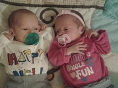 Beautiful faternal twins