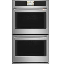 Buy the GE Stainless Steel Direct. Shop for the GE Stainless Steel 30 Inch Cu. Double Wall Oven with True European Convection from the Cafe Series and save. Electric Wall Oven, Electric Grills, Electric Cooker, Stainless Steel Oven, Oven Cleaning, Oven Racks, Grill Rack, Cool Things To Buy, Kitchen Appliances