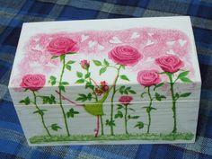 ORIGINAL GIFT Lovely wooden box for tea decoupage by folkmania