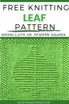 Free Garden Themed Dishcloth and Afghan Squares Knitting Patterns Knitted Dishcloth Patterns Free, Knit Dishcloth, Knitting Patterns Free, Free Knitting, Baby Knitting, Stitch Patterns, Yarn Sizes, Last Stitch, Yarn Needle