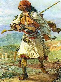 Armatolos (Greek soldier) - water colour by Carl Haag. Army History, Greek History, Ancient History, Opera Software, Greek Independence, Greek Paintings, Greek Soldier, Places In Greece, Greek Warrior