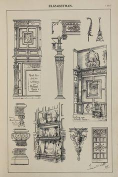 England Elizabethan Furniture Designs Large by PaperPopinjay