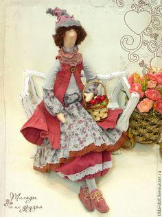 Купить Кукла в стиле Бохо: Шарлотта - тильда, кукла Тильда, куклы тильды, текстильная кукла