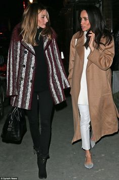 The Olivia Palermo Lookbook : Olivia Palermo with Meghan Markle out in London