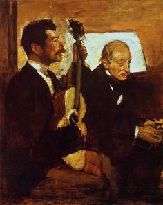 Degas' Father Listening to Lorenzo Pagans, 1870, Edgar Degas Medium: oil on canvas