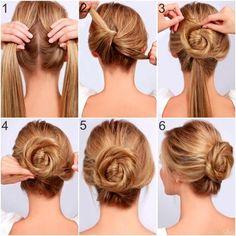Cómo hacer un peinado recogido en pasos simples - http://xn--decorandouas-jhb.com/como-hacer-un-peinado-recogido-en-pasos-simples/