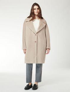 Marina Rinaldi TENNIS colonial  Brushed alpaca-wool coat. 7ae87fe4c96