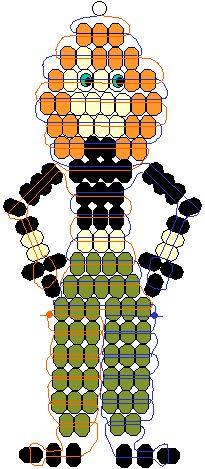 Kim Possible pony beads pattern