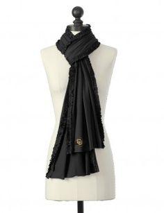 CU buffaloes ruffled scarf with crystal logo
