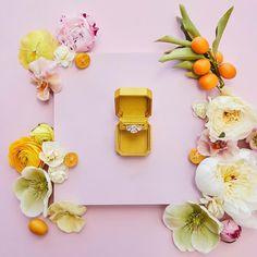 Wedding Ring Box, Wedding Engagement, Velvet Ring Box, Wedding Planning Inspiration, Yellow Wedding, Bridesmaid Dresses, Bridesmaids, Silk Ribbon, Wedding Designs