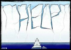 Cartoon Movement - The Other Truth Global Warming Drawing, Global Warming Climate Change, Save The Arctic, Le Cri, Concept Art, Art Projects, Cartoon, Drawings, Caricatures