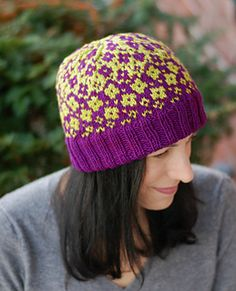 Fractured Fairy Tale Hat.  Pattern by Mary Annarella on Ravelry. #LyricalKnits
