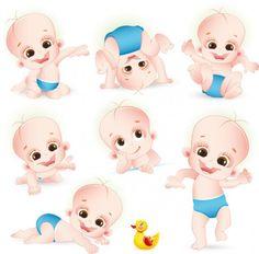 Vector de dibujos animados bebé | Descargar Vectores gratis