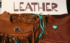 beautiful fringed, beaded handmade leather bags by Rocky Mountain Custom Leather