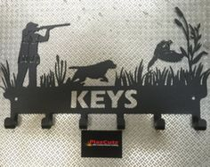 Pheasant & Spaniel Dog Shooting or Hunting Scene Key by PlazCutz