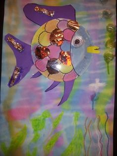 www.jufjanneke.nl | De mooiste vis van de zee Paper Plate Art, Paper Plate Crafts, Book Crafts, Rainbow Fish Crafts, Ocean Theme Crafts, Under The Sea Crafts, Art For Kids, Crafts For Kids, Clay Fish