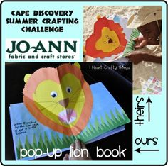 I HEART CRAFTY THINGS: Pop Up Lion Book