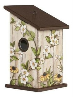 Studio M Summer Outdoor Decor Universal Birdhouse - Garden Shed Bird Houses Painted, Decorative Bird Houses, Bird Houses Diy, Painted Birdhouses, Farmhouse Birdhouses, Farmhouse Sheds, Jardin Decor, Outdoor Life, Outdoor Decor