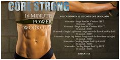 CORE STRONG – 16 Minute POWER Workout