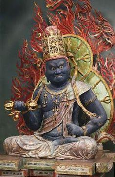 降三世明王坐像 金剛寺 GREAT DARK ONES, DARK WARRIORS KUBERA, BISHAMONTEN, & DAIKOKUTEN (MAHAKALA).