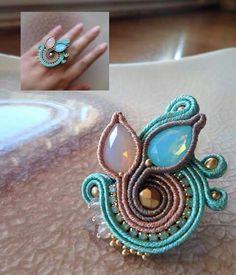 Feather Jewelry, Boho Jewelry, Jewelery, Handmade Jewelry, Soutache Necklace, Tassel Earrings, Ring Earrings, Tambour Beading, Shibori