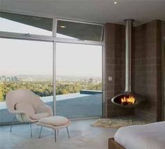 Fireorb Suspended Fireplace Apartment Therapy Photo