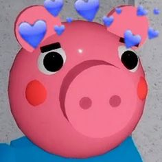 It turned out to be extremely awful because the hearts are not clear and climb on the eyes of the Roblox 3, George Pig, Peppa Pig, South Park, Best Games, Piggy Bank, Anime Characters, Hello Kitty, Fan Art