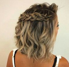 Short Hairstyles Design in 2019 Trend - Short Hair Styles Medium Hair Styles, Curly Hair Styles, Natural Hair Styles, Braided Hairstyles For Wedding, Short Hair Bridesmaid Hairstyles, Short Prom Hair, Dance Hairstyles, Hairstyle Short, Hairstyles 2018