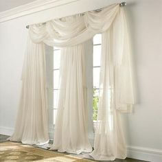 Check out the deal on Elegance Voile PINK Sheer Curtain at BedBathHome. Pink Sheer Curtains, Voile Curtains, Curtains With Blinds, Drapery, Valances, Velvet Curtains, Voile Panels, Sheer Curtain Panels, Window Coverings