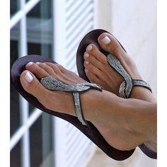 Beaded Snake Sandals