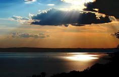 sunset at lake balaton/hungary