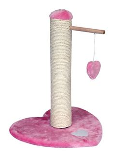 Pink Play Heart Cat Scratcher @ www.morethanpets.co.uk
