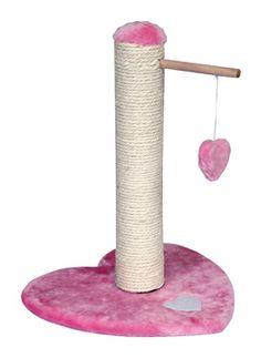 Pink Play Heart Cat Scratcher @ www.morethanpets.co.uk