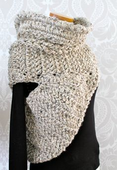 Katniss Everdeen Cowl Vest Scarf | Hunger Games Catching Fire | Crochet on Etsy, $138.33