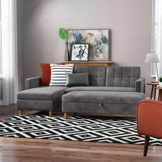 Modern Rustic Interiors Aretha Left Hand Facing Sectional Upholstery: Beige, Orientation: Left Hand Facing, Size: H x W x D Mid Century Sectional, Tufted Sectional, Fabric Sectional, Sleeper Sectional, Reclining Sectional, Modern Sectional, Leather Sectional, Chaise Sofa, Sectional Furniture