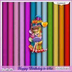 Happy Birthday to Me Cardstock #JulieCDesigns #thestudio #digitalscrapbooking