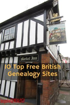 The top 10 free British genealogy sites that are essential for researching your British ancestors. Free Genealogy Sites, Genealogy Research, Family Genealogy, Family Reunion Games, Family Reunions, Summer Camp Games, Family Tree Research, Genealogy Organization, 10 Top
