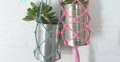 In this fast pace, high tech world we live in it's great to see some old school crafts coming back. I n the 70s (were you born yet ?... Garden Bunting, Macrame Plant Hangers, Fabric Crafts, Diy Crafts, Macrame Projects, Growing Plants, So Little Time, Amazing Gardens, Old School