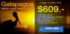 Galapagos within Your Reach Package from Hotel Solymar Galapagos @hotelsolymargps